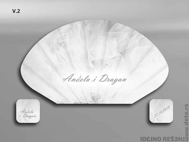 Idejno rešenje, svadbene lepeze  Anđela