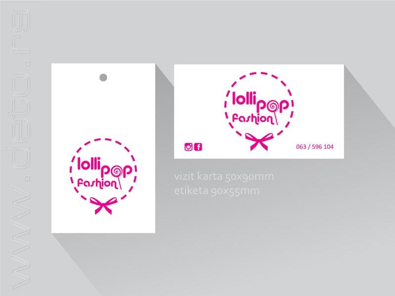 lollipop vizit karte 90x50 + etiketa 90x55mm