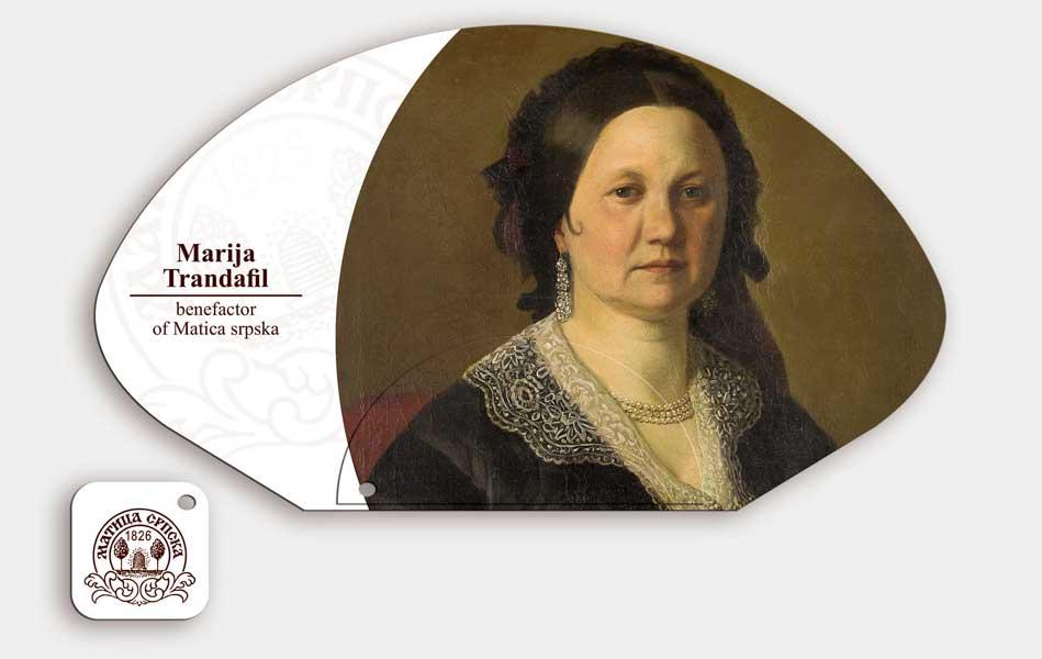 "Matica Srpska / suvenir lepeze ""Marijana Trandafil"""