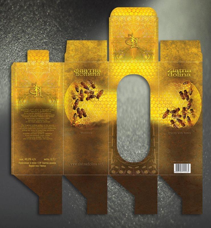 """kutija za rakiju """"Medovača / Zlatna dolina"""""""