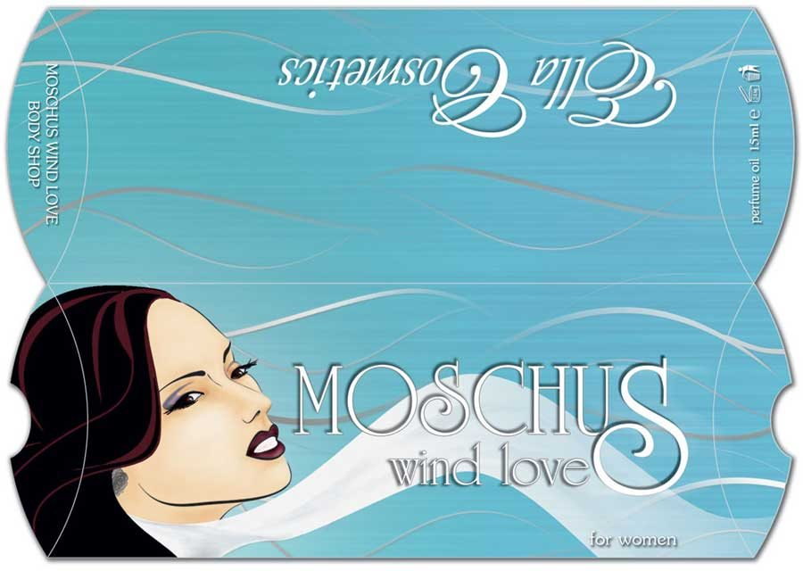 idejno resenje za pillow box - Moschus - Wind love, klijent Ella Cosmetics