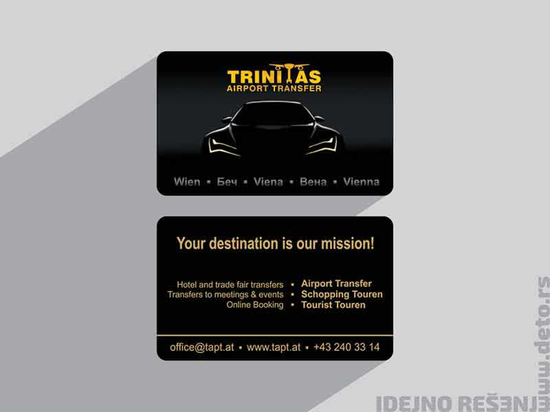 Trinitas (Austrija) / luksuzne vizit karte sa UV-lakom i zatotiskom