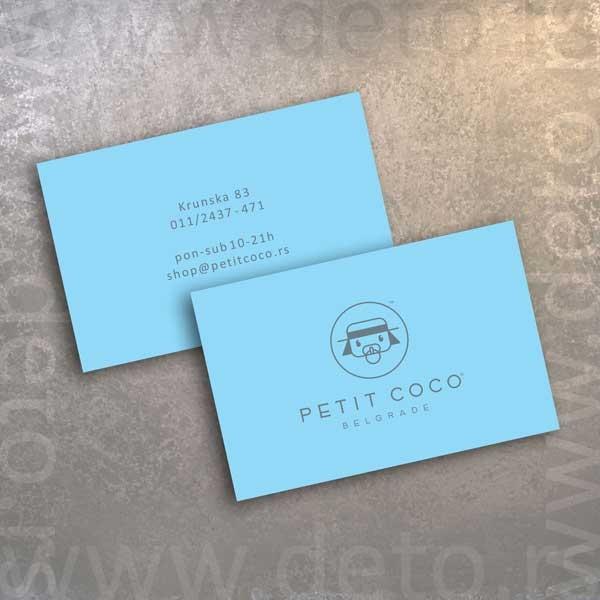 Petit Coco - vizit karte