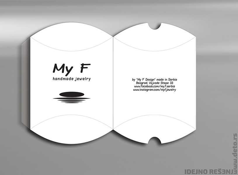 "Idejno rešenje ""My F"" / pillow box"