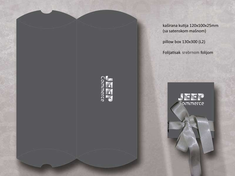 Jeep-Commerce - pillow box L2+ luksuzna kutija sa trakom