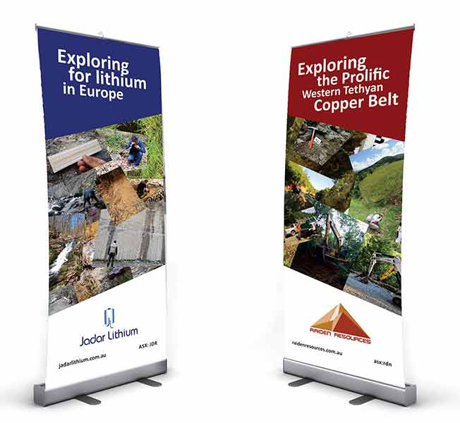 idejno rešenje za roll-up 80x200cm / Jadar Lithium / Raiden resources  (Australia)
