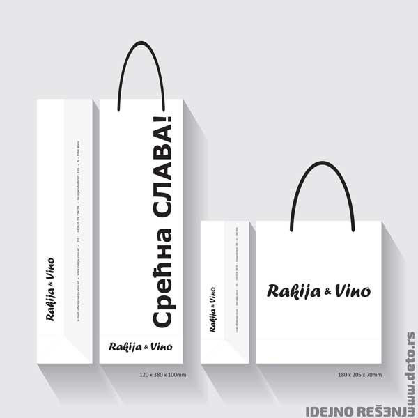 Rakija i Vino (Austrija) / Reklamne kese za piće