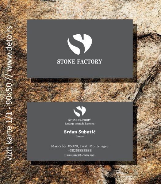 Stone factory logo+vizit karte