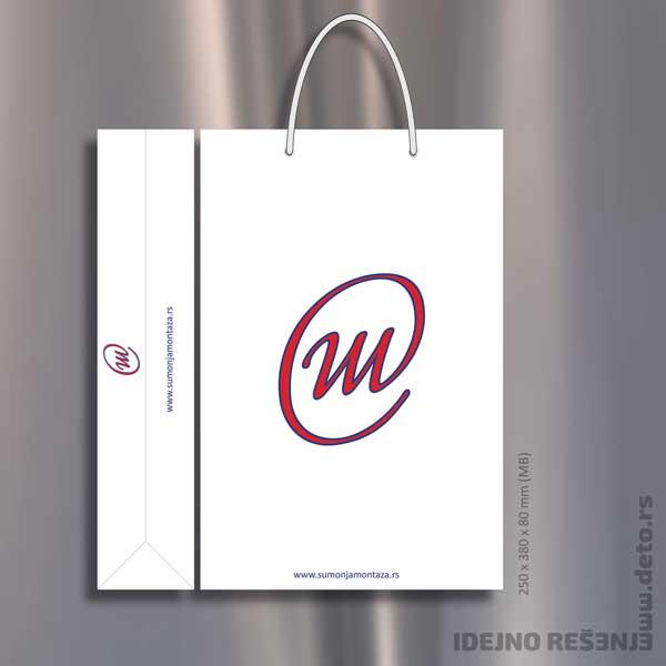 Šumonja Montaža - Reklamna kesa u dve boje