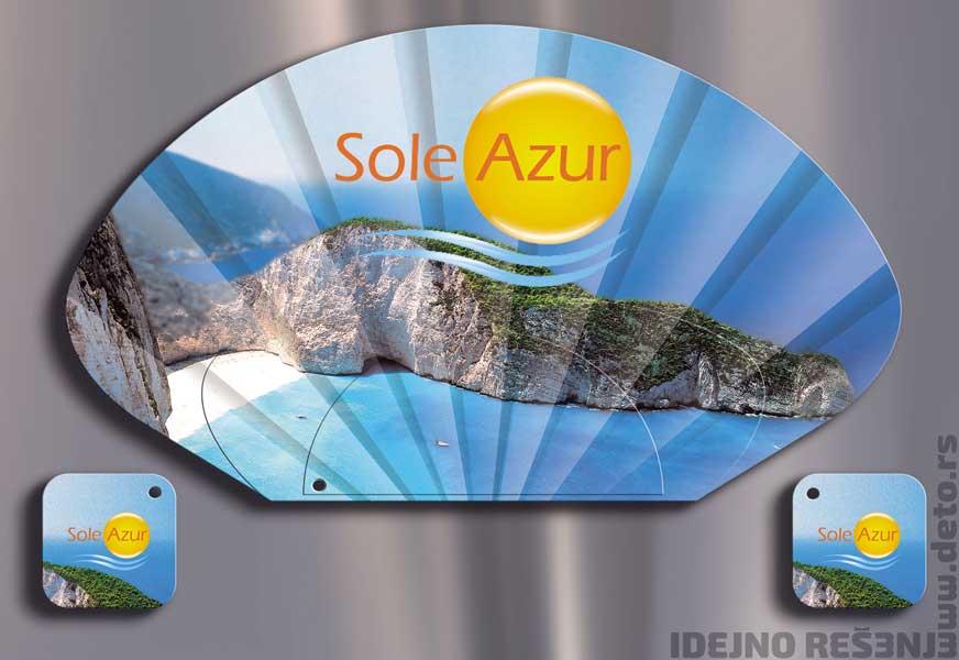 Sole Azur / reklamne lepeze