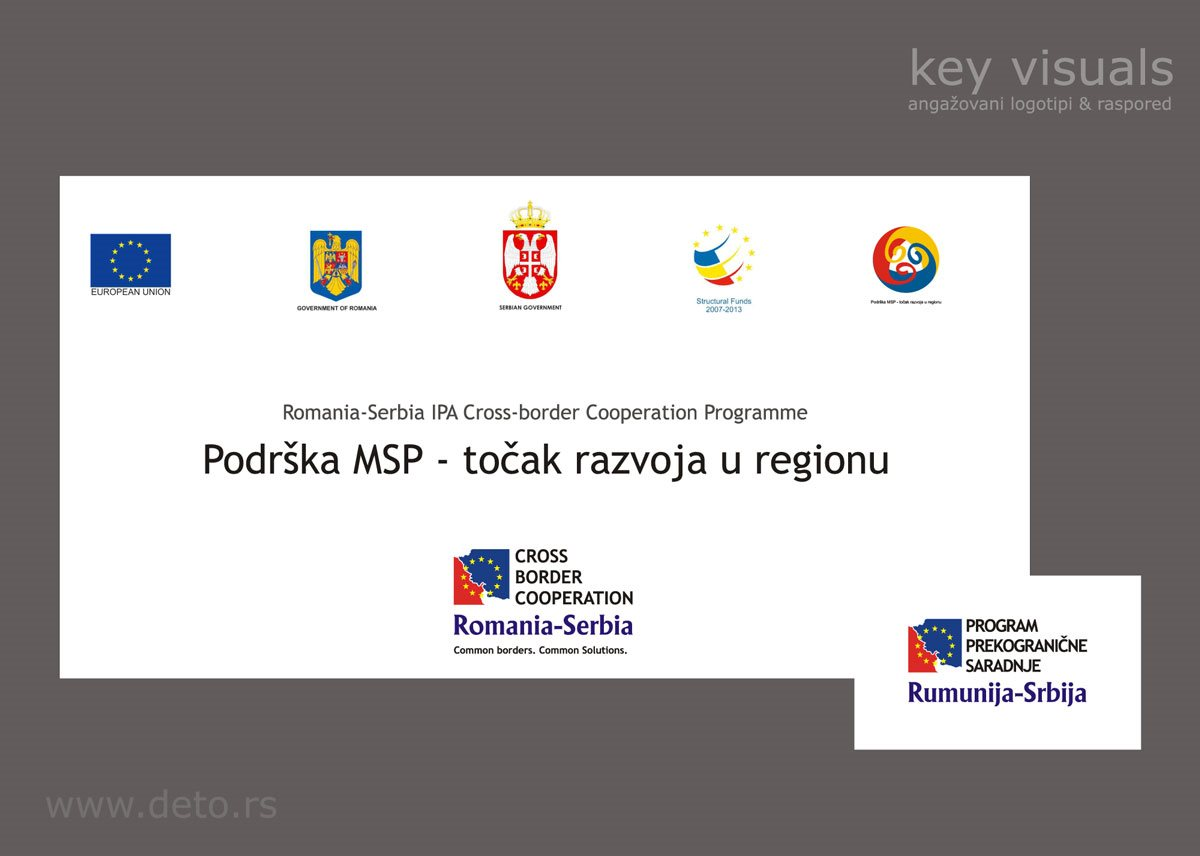 Projekat prekogrančne saradnje Srbija-Rumunija (dizajn logotipa & grafički standardi projekta)