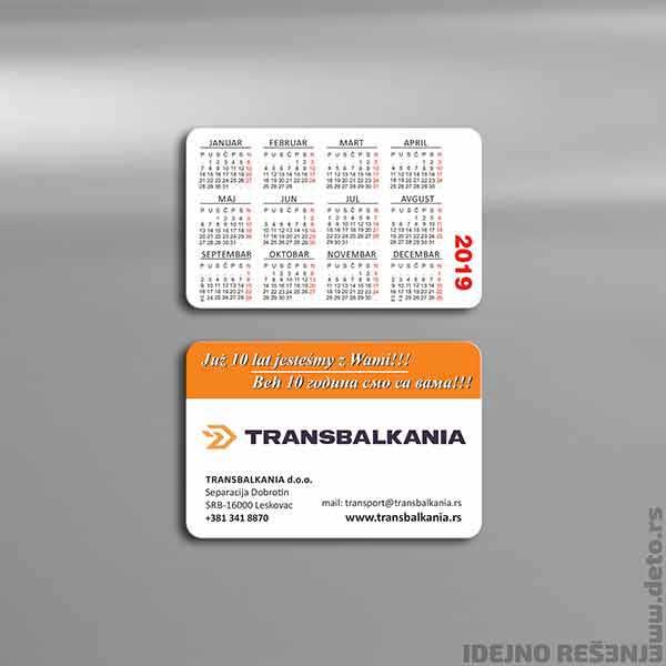 Transbalkania / džepni kalendar