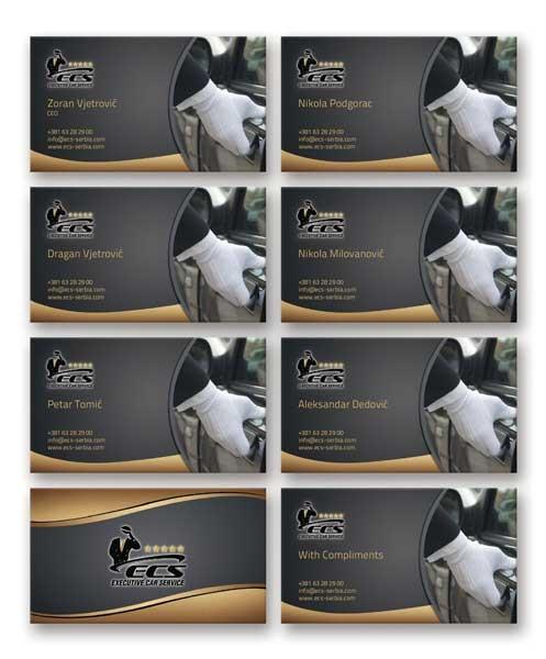 ECS- luksuzne vizit-kartice, obostrani kolor, više imena