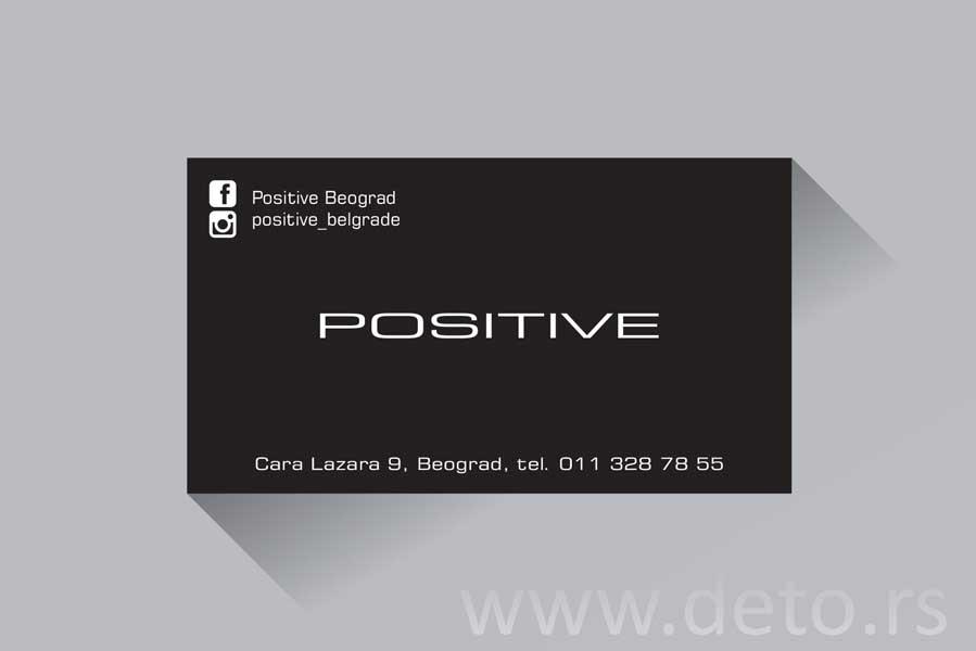 Positiv / vizit karte (demo)