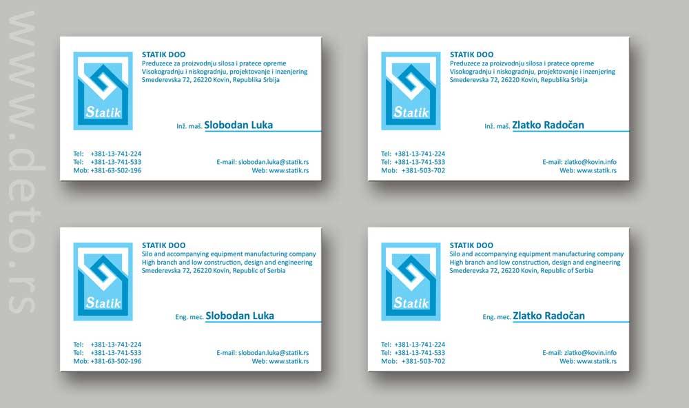 Static /  vizit karte (demo)