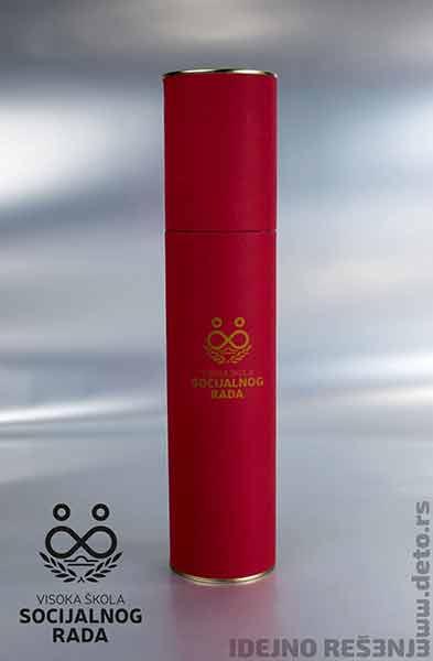 Tube za diplome (crvene) / VŠ Socijalnog rada