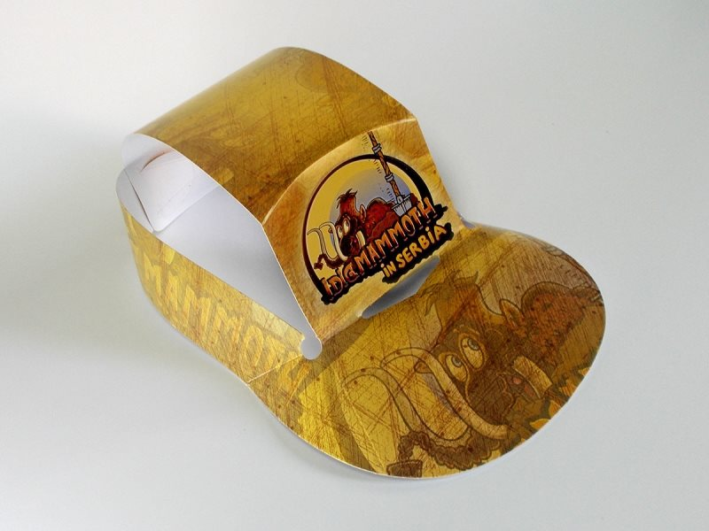 Promo kartonski kačket - mamut park, Viminacijum