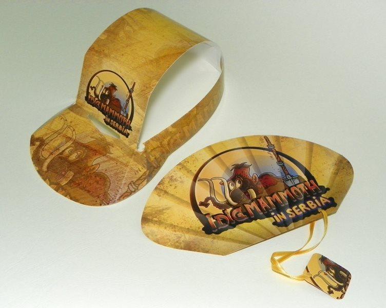Lepeze i kartonski kačketi za Viminacijum (novi izložbeni prostor posvećen mamutima)