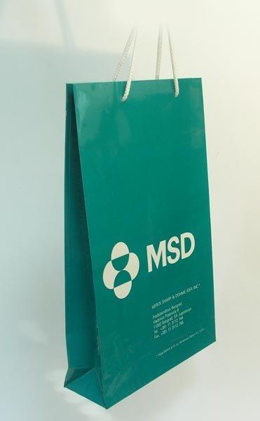 merck / poslovne reklamne plastificiranje kese