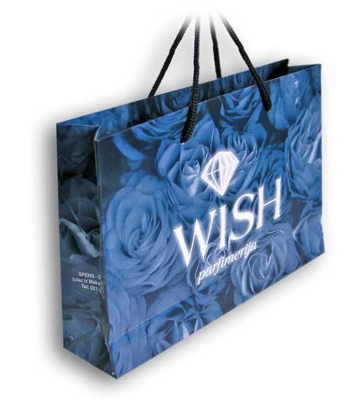 plastificirana reklamna kesa Wish / dimenzije 200 x 140 x 60 (model PBX)
