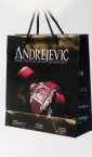 """reklamna kesa - """"Zlatara Andrejević"""", dimenzije: 230 x 220 x 100 (model XB)"""