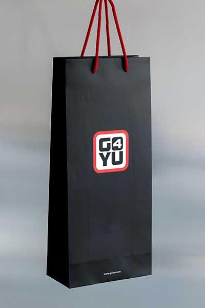 """Ekskluzivna papirna kesa za piće """"G4YU"""""""