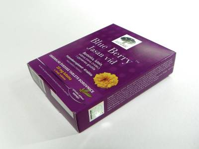 """Bluebery"" kutije sa zlatotiskom za ""New Nordic"" (distributer ""Ček"" Zenica, BIH)"