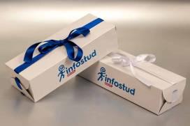 Specijalna kutija / poklon pakovanje sa ukrasnom mašnom / Infostud