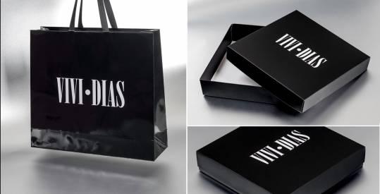 Ekskluzivna ambalaža sa mat plastifikacijom (kese+kutije)  / Vivi Dias, Švajcarska