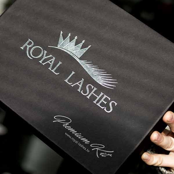 Kaširana kutija premium seta za izradu veštačkih trepavica / Royal Lashes  (Hrvatska)