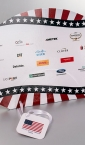 Ambasada USA / promo lepeza (sa sponzorima) - za proslavu nacionalnog praznika) 2