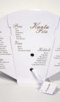 Lepeze za venčanja (vinska lista, sa etiketom)