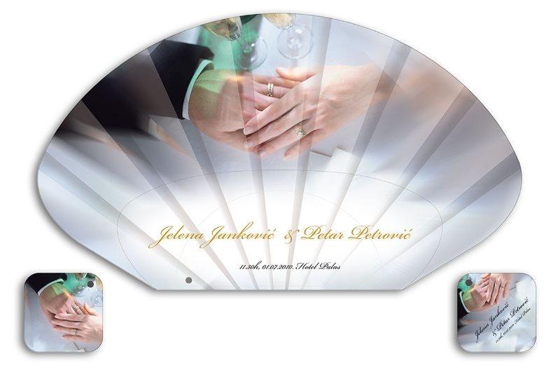 lepeza, svadbena, Petar i Jelena