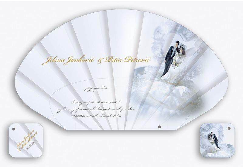 lepeza za venčanje, tipska