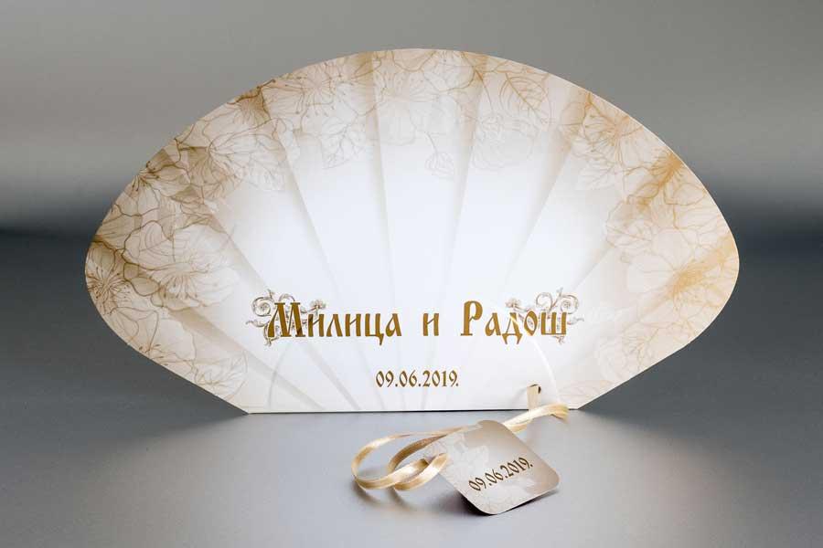 Lepeze za večnanja (svadbene lepeze) / Milica i  Radoš
