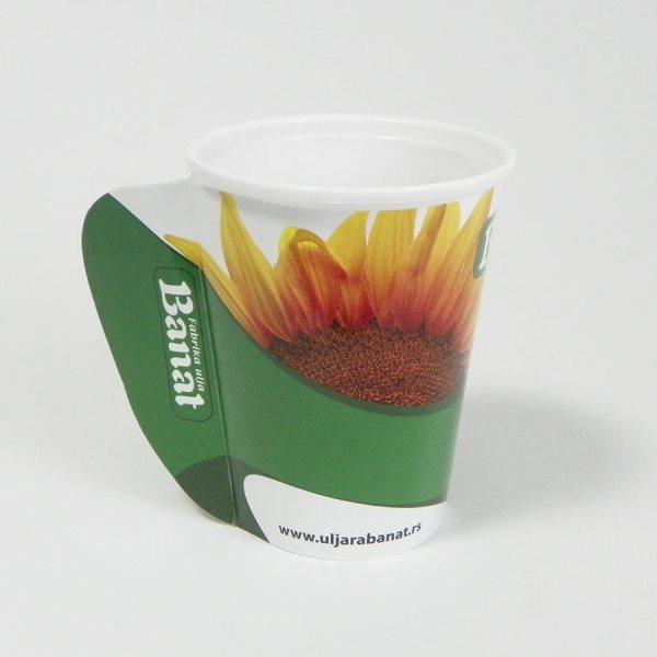 """Papirne čaše (omoti za standardne PE čaše) - """"Banat"""" - sa otvorenom ručkom"""