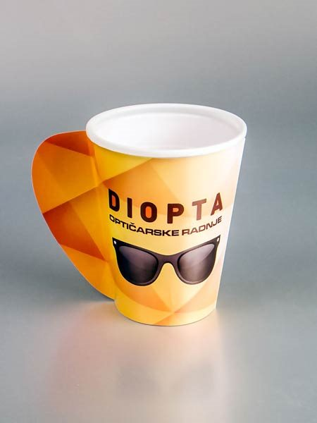"Papirne čaše (omoti za standardne PE čaše) - ""Diopta"" - sa otvorenom ručkom"