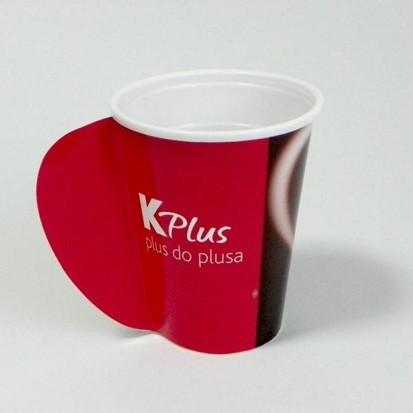 """Papirne čaše (omoti za standardne PE čaše) - """"K-Plus"""" (Idea) - sa otvorenom ručkom"""