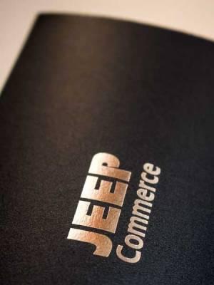 Jeep Commerce - Pillow box model L2 (zlatotisak detalj)