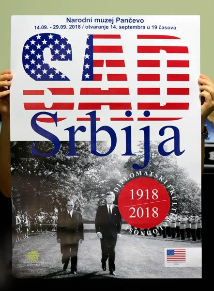 "Plakat 500x700mm ""USA/Srbija"" / Narodni muzej Pančevo"
