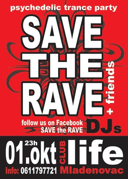 "Plakat B2 ""save the rave"""