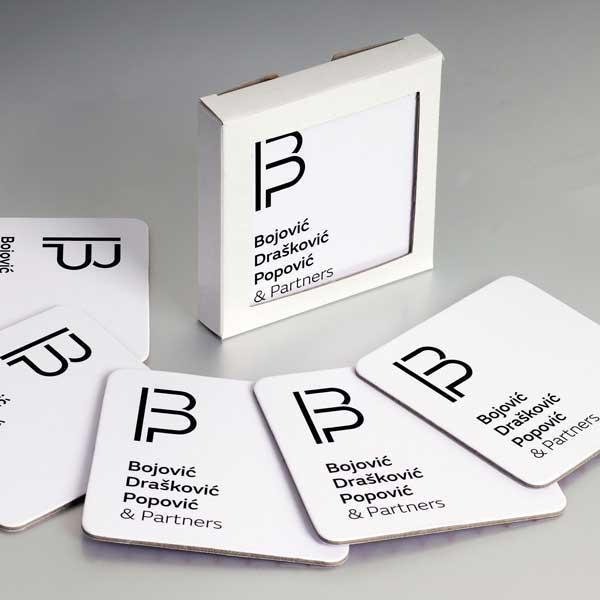 podmetači za čaše / Bojović, Drasković, Popovic & partners