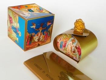 pop-up kocka, i kutijica za uskršnja jaja, za crkvenu prodavnicu iz Čikaga (SAD)