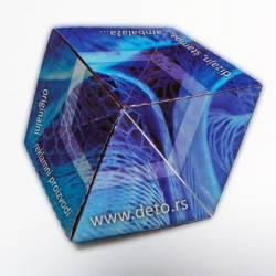 flexa-hexagon, flajer sa tri strane