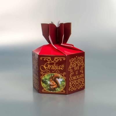 """Grilijaš - šestougaona kutija za čokoladirano voće """"Filgold"""", Crna Gora"""