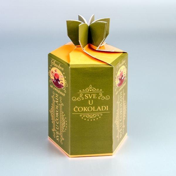 """Smokva - šestougaona kutija za čokoladirano voće """"Filgold"""", Crna Gora"""