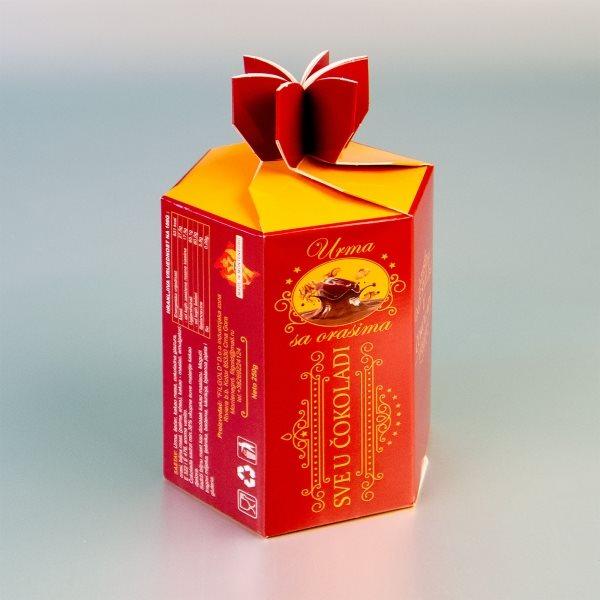 """Urma - šestougaona kutija za čokoladirano voće """"Filgold"""", Crna Gora"""