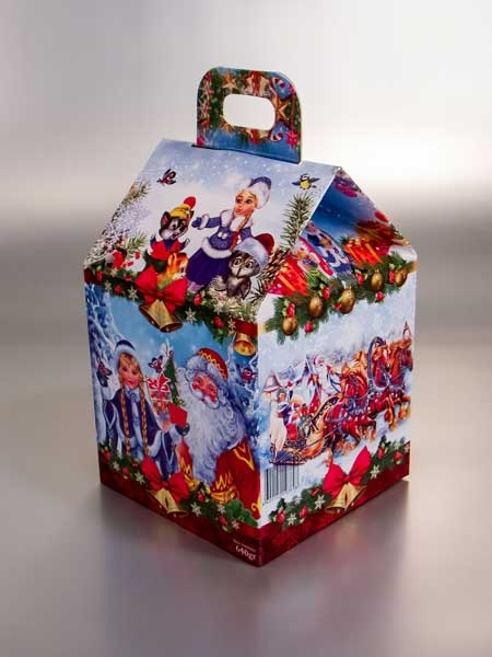 """Berezka West (ruska čokolada) - novogodišnji paketić, kutija """"kućica"""" od 640gr"""