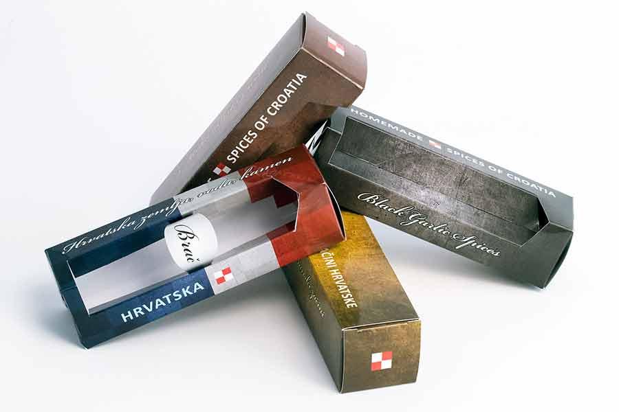 """Specijalne kutije za suvenire (teglice sa začinima) """"Spices of Croatia"""" - Hrvatska 3"""