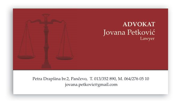 vizit karte / standardne / Petković